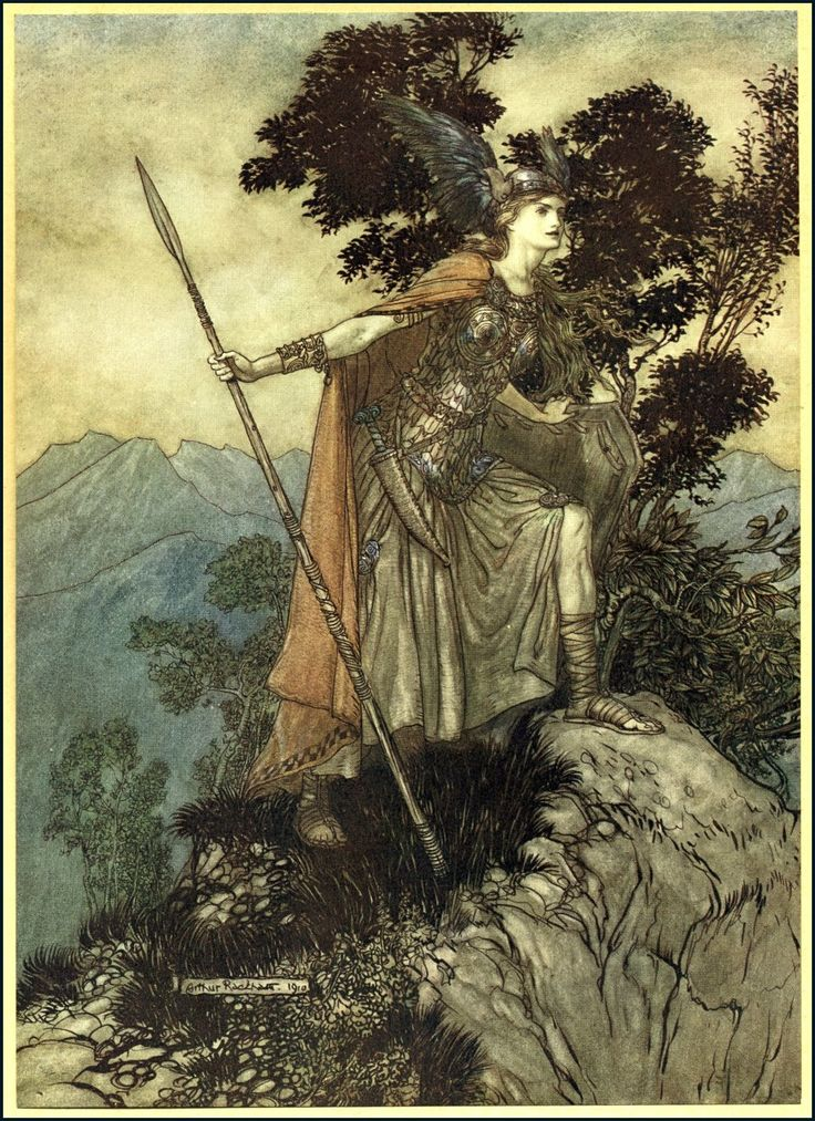 Brunhilde from The Ring Cycle by Arthur Rackham (1910)