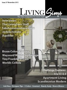 Cover of LivingSims issue 37. The Sims Magazine for more Style